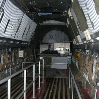 Looking from the front to rear of the cargo area.