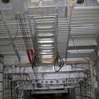 Flight deck access ladders.