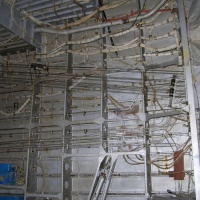 Control cables and electrical wiring.